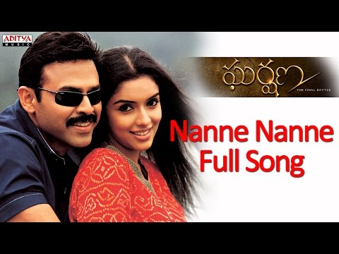 Video Nanne Nanne Full Song - Gharshana Telugu Movie - Venkatesh, Aasin download in MP3, 3GP, MP4, WEBM, AVI, FLV January 2017