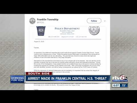 Person who made threats against Franklin Central High School arrested