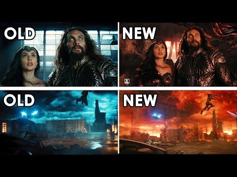 Justice League Trailer Comparison [Full Speed + Slo-Mo, Perfectly Synced, 4K UHD]