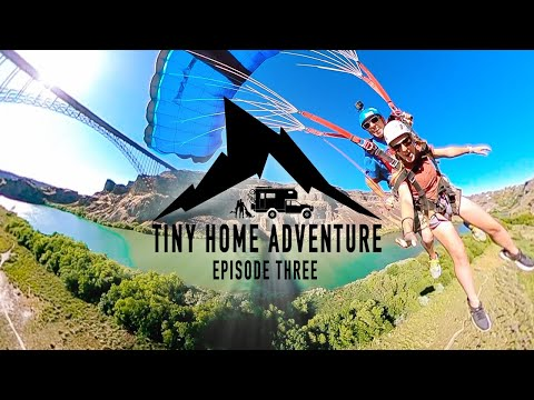 Tiny Home Adventure S3E:3 - FIRST TIME BASE JUMPING the Perrine Bridge in Twin Falls, Idaho