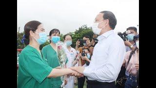 Quảng Ninh: 200 cán bộ, y bác sĩ xuất quân lên đường tình nguyện chung tay cùng tỉnh Bắc Giang và cả nước đẩy lùi dịch bệnh Covid-19