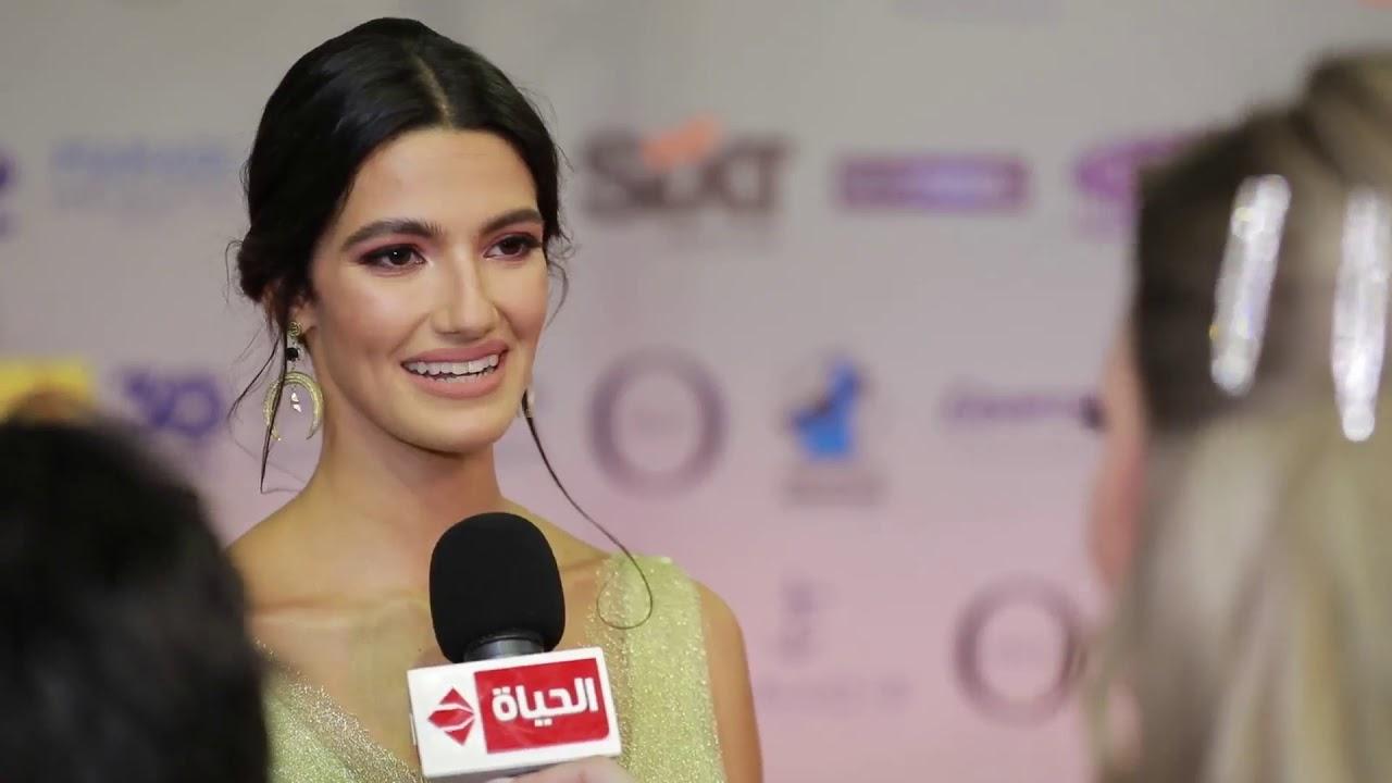 عين - الفنانة تارا عماد من مهرجان الجونة : مهرجان الجونة بحب اشارك فيه وببقى مبسوطة هنا