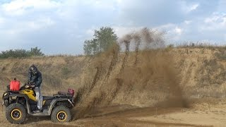 5. Can-am outlander 800 max xt-p - in the sand