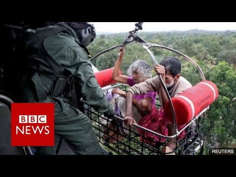 India Floods: Rescue Operation In Kerala Flooding - BBC News