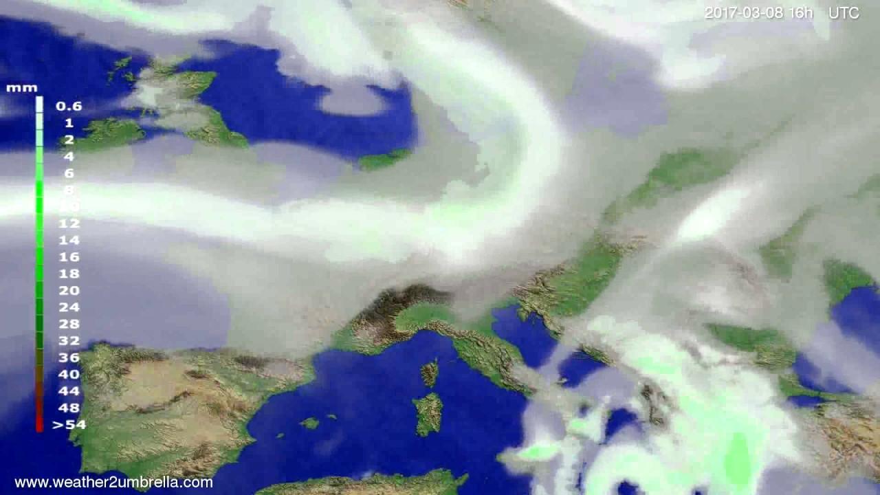 Precipitation forecast Europe 2017-03-05