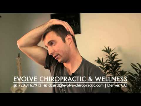 video:Easy Stretches for Neck Pain Relief - Evolve Chiropractic - Denver Tech Center (DTC) Chiropractor