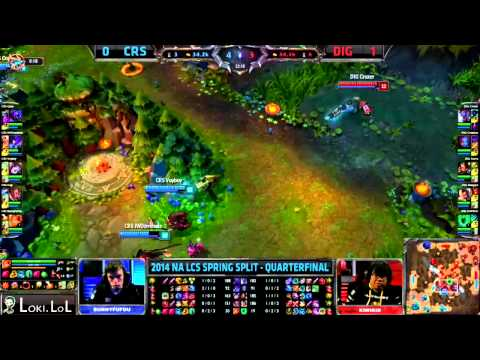 Oh - Subscribe ~ http://www.youtube.com/subscription_center?add_user=lokitheetrickster CRS vs DIG Game 2 2014 Spring NA LCS Quarterfinals.