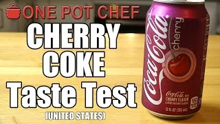 """Today I try """"Cherry Coke"""" which is something I've heard about in American movies and TV shows, but have never tried here in Australia. Is it Cherry flavoured Coke? Or Cherry flavoured soda with Coke branding? And is it actually any good? Watch and find out!Want to Taste Test this item yourself? Buy it here: http://go.magik.ly/ml/40xi/Subscribe to One Pot Chef (it's free!): http://bit.ly/SubOPCONE POT CHEF COOKBOOKS - PAPERBACKS AND EBOOKS:http://www.lulu.com/spotlight/onepotchefONE POT CHEF COOKBOOKS ON iTUNES BOOKSTORE:http://itunes.apple.com/au/artist/dav...ONE POT CHEF APRONS + T-SHIRTS NOW AVAILABLE!http://shop.studio71us.com/collection...Filmed in 4K using the Sony FDRAX100 Video Camera - Check it out here: https://goo.gl/iHLnHPFollow me on Social Media: Twitter: http://www.twitter.com/onepotchefFacebook: http://www.facebook.com/onepotchefInstagram: http://www.instagram.com/onepotchefshowMusic Credits: """"Call to Adventure"""" by Kevin MacLeodhttp://incompetech.comRoyalty Free Music - Used with Permission under Creative Commons license"""