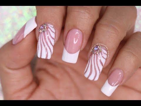 Diseños de uñas - Diseño de uñas Hermoso para manos y pies -  beautiful Manicure and Pedicure Nail art tutoríal