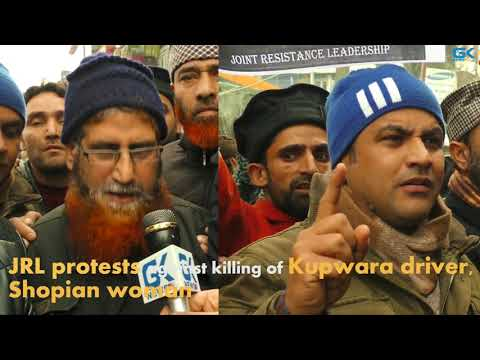 JRL protests against killings of innocent civilians by Indian forces