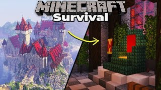 How to Build a CASTLE THRONE ROOM : Minecraft 1.14 Survival Let's Play