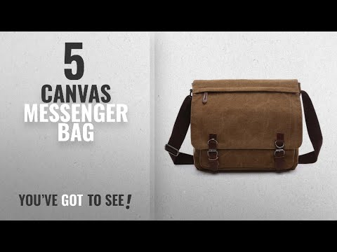 Top 10 Canvas Messenger Bag [2018]: Aizbo Men's Shoulder Messenger Bag Canvas Crossbody Work / Day