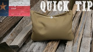 In this video, I discuss a quick tip for making your own rear shooting bag specific to your needs that can be accomplished quickly and inexpensively. With a little know-how, you can simply use an old pair of blue jeans and any filler media for the inside such as sand, poly pellets, corn media, rice, kitty litter, etc.Thanks for watching and subscribing! Keep up the good fight!~The Lonestar Patriot