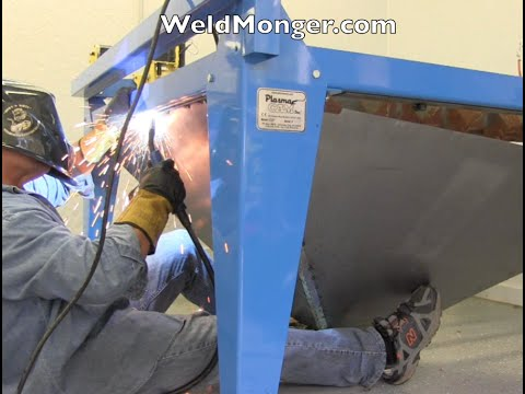 plasmacam - for a detailed article visit http://www.weldingtipsandtricks.com/plasmacam-downdraft.html or visit the store here http://weldmongerstore.com/ Fabricating a D...