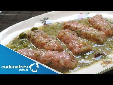Receta para preparar longaniza en salsa verde con nopales. Recetas fáciles y rápidas
