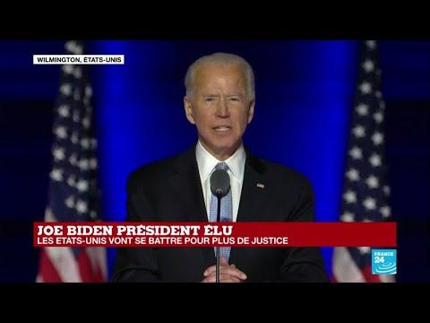 USA #EtatsUnis REPLAY - Premier discours de Joe Biden, élu 46e président des États-Unis