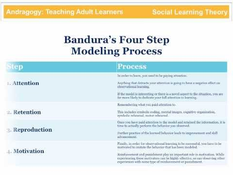 Bandura - Bandura Social Learning Theory is part of the Andragogy video series and is available for FREE as an iBook for download on the iPad. The title of the iBook i...
