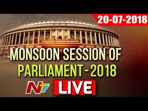 Parliament Monsoon Session 2018 LIVE | TDP MPS Moved No confidence Motion in Lok Sabha | NTV (видео)