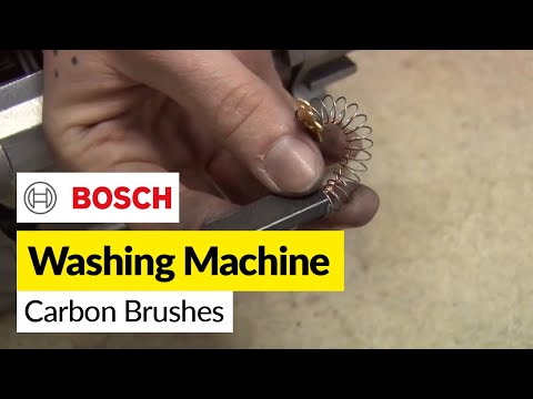 How to replace washing machine carbon brushes on a Bosch washer