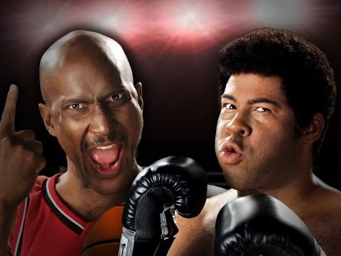 Michael Jordan vs Muhammad Ali.  Epic Rap Battles of History Season 3. (видео)