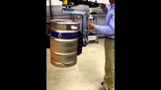 Keg Lifter with vacuum and 360 rotation