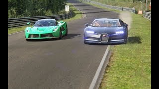 Video Ferrari LaFerrari vs Bugatti Chiron at Nordschleife MP3, 3GP, MP4, WEBM, AVI, FLV Maret 2019