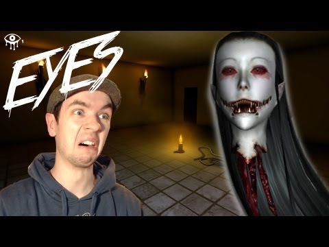 Eyes | BEST BURGLAR EVER! | Indie Horror Game | Commentary/Face Cam (видео)