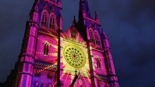 Saint Marys Australia  city pictures gallery : CHRISTMAS 2014 AT ST MARYS CHURCH IN SYDNEY AUSTRALIA - LIGHT SHOW