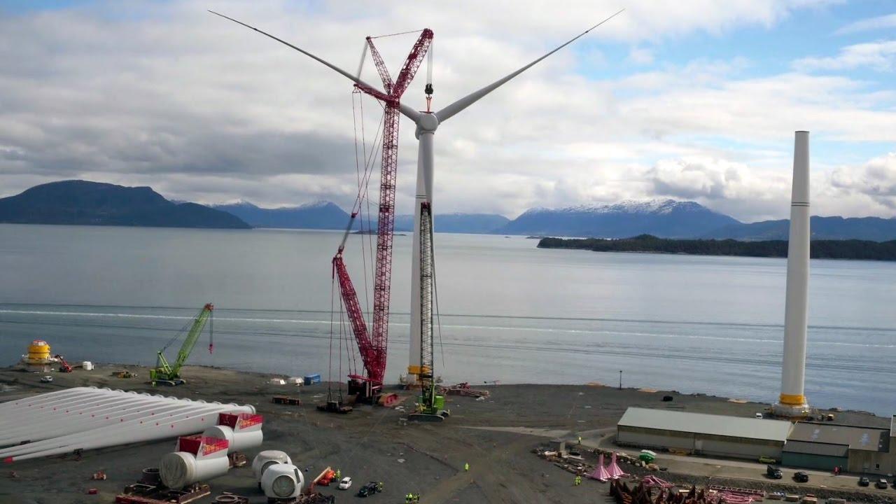 Assembling a wind turbine