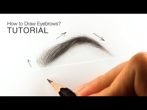 How To Draw Realistic Eyebrows For BEGINNERS - EASY TUTORIAL