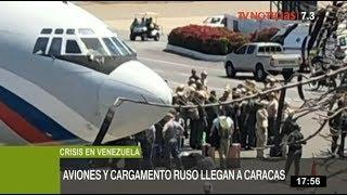 Venezuela: aviones rusos llegan con militares y toneladas de cargamento
