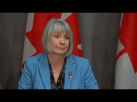 Health Minister Patty Hajdu: Self Isolation-No Exceptions