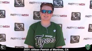 2021 Allison Patrick Pitcher Softball Skills Video