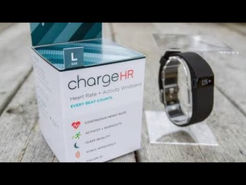 Fitbit Charge HR Heart Rate and Activity Wristband, Large (Black) unboxing