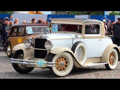 Ретро-автомобили в Калининграде. Международный фестиваль \Золотая тень Кёнигсберга\ 2014