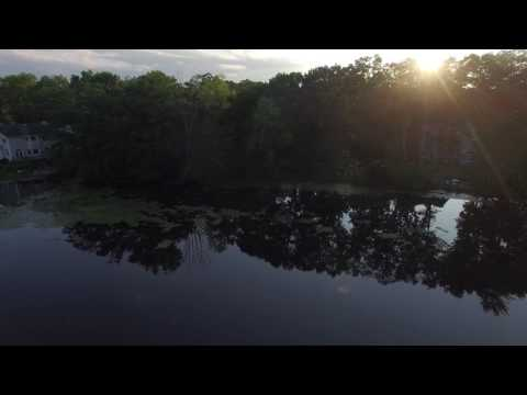 DJI footage over Whites Pond in Waldwick NJ