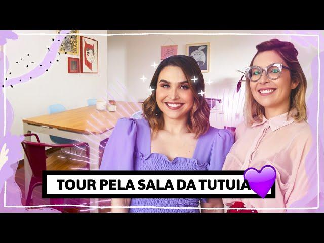 Tour pela sala da TUTUIA #VISITACHATA   Lu Ferreira   Chata de Galocha - Chata de Galocha