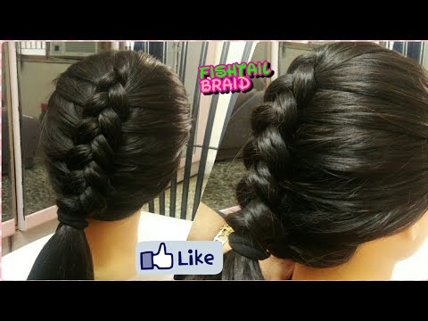 Fishtail braid !! Different types braid hairstyles....