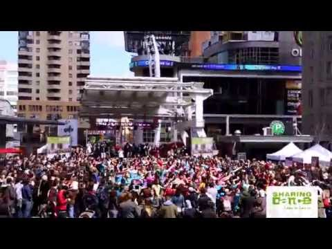 (Official Video) 2014 Sharing Dance Day Routine at Yonge-Dundas Square