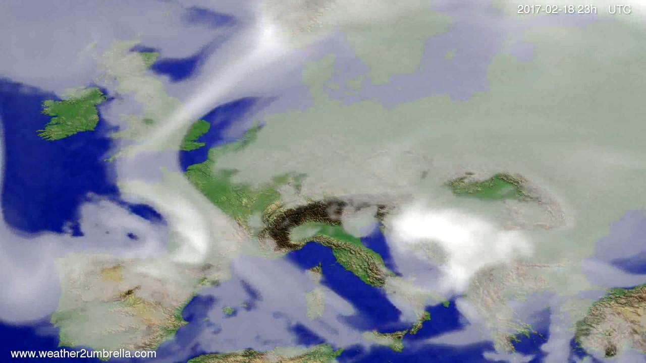 Cloud forecast Europe 2017-02-15