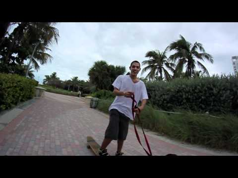 Freeride Longboarding in Miami