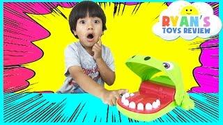 Ryan plays Fun Crocodile Board Game!
