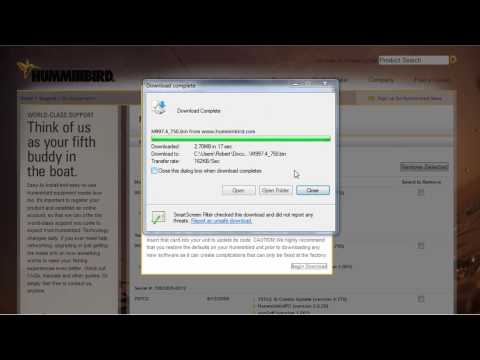 Humminbird Software Update to SD Card using Humminbird PC