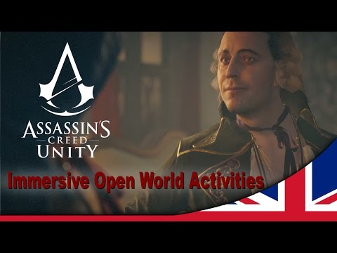 open - In Assassin's Creed Unity, you will evolve in an open Paris with 7 different lively districts. From palaces to slums, you will enjoy exciting and diversified side missions. Play all new single...