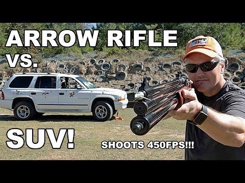 Arrow Rifle vs. SUV!