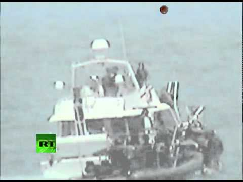 Full Stop! Video of IDF troops boarding Gaza flotilla boat