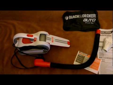 Black+Decker PAV1200W 12-Volt Cyclonic-Action Automotive Pivoting-Nose Handheld Vacuum Cleaner