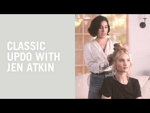 Updo hair tutorial with Jen Atkin and Rosie Huntington-Whiteley