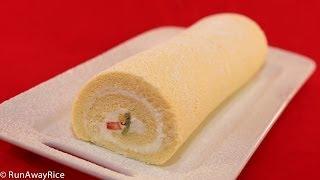 Roll Cake/Swiss Roll/Log Cake (Banh Bong Lan Cuon)