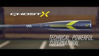 GHOST X USA BASEBALL BAT TECH VIDEO (2018)
